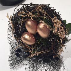 Nest headband egg and nest Fascinator birds nest by doramarra