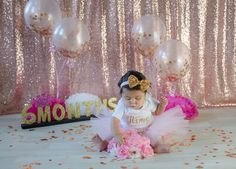 Happy Half Birthday, Birthday Girl Pictures, 1st Birthday Party For Girls, Girl Birthday Themes, Baby Pictures, Six Month Baby, 6 Month Baby Picture Ideas, Monthly Baby Photos, Baby Girl Photography