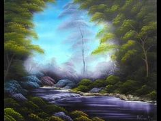 Pintar paisaje con acrílicos , Painting landscape with acrylics - YouTube Painting Inspiration, Painting & Drawing, Videos, Northern Lights, Art Projects, Youtube, Waterfall, Canvas, World