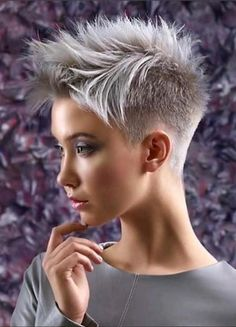 Easy Funky Hairstyles For Short Hair You Must Try! Easy Funky Hairstyles For Short Hair You Must Try!,Short Hairstyles If you are looking for some hairstyles that would make you look outstanding, you can. Funky Hairstyles For Long Hair, Short Sassy Haircuts, Funky Short Hair, Super Short Hair, Short Grey Hair, Short Hair Cuts For Women, Short Hairstyles For Women, Spring Hairstyles, Newest Hairstyles