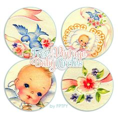 Free Vintage Baby Circles by FPTFY