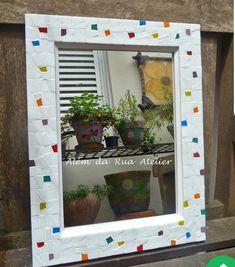 Mirror Mosaic, Mosaic Wall Art, Mosaic Diy, Mosaic Crafts, Mosaic Projects, Mosaic Glass, Mosaic Tiles, Mosaic Designs, Mosaic Patterns