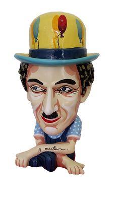 "Dganit Blechner and Yuval Mahler artworks at the ""Israeli Pop Art"" exhibition in India, New Delhi - Art Time Gallery Modern Art Sculpture, Autumn In New York, Human Behavior, Charlie Chaplin, Home Art, Art Gallery, Sculptures, Pop, Artist"