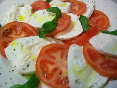 the REAL Caprese!!! ... fresh italian recipe for dummies ... take (Buffalo)  mozzarella & tomatoes, slice them, put some basil leafs ... adorable perfume ... finally add a drizzle of fantastic EVO oil ... 3 minutes long??? ... great, now you can go to enjoy yourself ... ehi! have you eaten it?