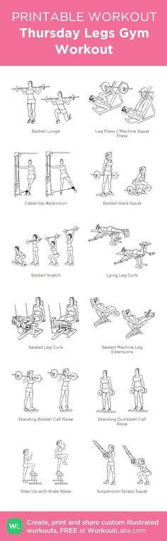 Women's Gym Legs Workout.