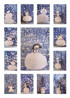 l'école maternelle Frédéric Mistral à Opio - MOYENNE SECTION - bonhomme de neige