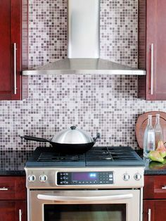 mosaic tile backsplash - website allows you to mix & match colors and patterns to create custom design