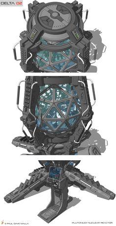 ArtStation - Delta 02 Plutonium Nuclear Reactor Concept, Paul Dave Malla Futuristic Art, Futuristic Technology, Zoids, Nuclear Reactor, Spaceship Art, Sci Fi Weapons, Robot Concept Art, Prop Design, Game Character Design