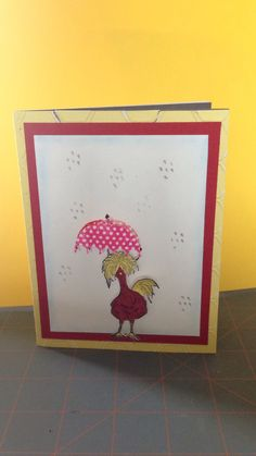 Hey chick stampin up card