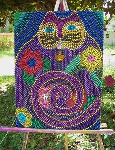 made from Mardi Gras beads - I'd like to do this but it be a dog