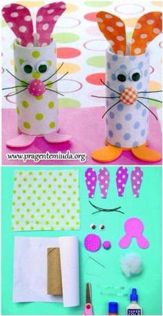 Easy Easter craft for toddlers and little kids: toilet paper roll bunnies crafts kids 21 Amazing Easter Egg Crafts for Kids They Will Love Easter Crafts For Toddlers, Easter Projects, Easter Art, Bunny Crafts, Easter Activities, Easter Crafts For Kids, Craft Activities For Kids, Toddler Crafts, Easter Bunny
