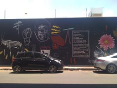 street art in maboneng, johannesburg Continents, Places To Go, Street Art, African, Feelings, Life