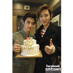 o & chanyeol Chanyeol Birthday, Chansoo, Tvxq, Kpop, Birthday Cake, Desserts, Exotic, Babies, Food Cakes