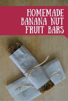 The Iowa Farmer's Wife: Homemade Banana Nut Fruit Bars