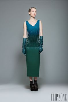 Georges Chakra Fall-winter - Ready-to-Wear Georges Chakra, Fall Winter 2015, Fall 2016, Black Gloves, Lace Corset, Shades Of Green, Peplum Dress, Ready To Wear, Glamour