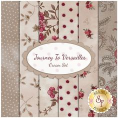 Journey To Versailles 6  FQ Set - Cream Set by Mary Jane Carey for Henry Glass Fabrics
