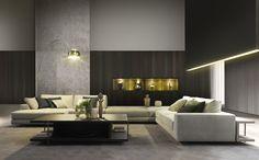 ARGO Corner sofa by MisuraEmme design Mauro Lipparini Sofa Design, Flur Design, Hall Design, Furniture Design, Design Art, Living Room Designs, Living Spaces, Living Rooms, Interior Architecture