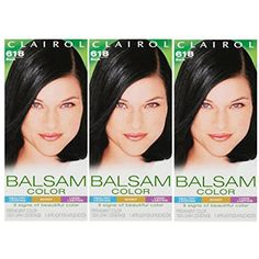 Clairol Balsam Hair Color 618 Black 1 Kit (Pack of 3) >>> Check this awesome product by going to the link at the image. (This is an affiliate link) #HairColoringProducts