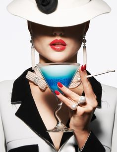 An image from the Cocktail feature, shot by Thomas Lagrange for the June/July 2014 issue of Vogue Paris Foto Fashion, Fashion Shoot, Fashion Beauty, Vogue Paris, Jewelry Photography, Portrait Photography, Fashion Photography, Victoria And Albert Museum, Jewelry Editorial
