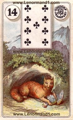 The Lenormand meaning the Fox from the antique Dondorf Lenormand cards
