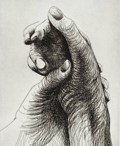 The Artist's Hand IV - Series,1979 by Henry Moore