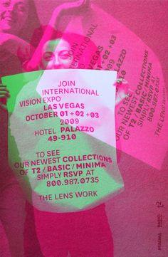 The Lens Work Show Invitation Card | Juliette Bellocq