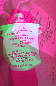 The Lens Work Show Invitation Card | Juliette Bellocq