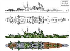 Tone Kai type Heavy Cruiser Refit by Tzoli on DeviantArt Naval History, Military History, New Battleship, Navy Coast Guard, Heavy Cruiser, Military Drawings, Imperial Japanese Navy, St Patrick's Day Crafts, Nautical Art