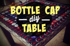 Tables with beer bottle cap surfaces are a huge trend in DIY. It takes some planning and, depending on how big a beer drinker you are, months of bottle cap collecting. But the end result is worth it. Your favorite bottle caps are enshrined for all of time under a hard, clear resin table top, perfect for eating, card playing and, of course, serving beer.