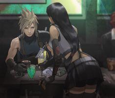 Final Fantasy 7 Tifa, Final Fantasy Characters, Final Fantasy Artwork, Final Fantasy Vii Remake, Video Game Characters, Fantasy Series, Final Fantasy Cosplay, Cloud And Tifa, Cloud Strife
