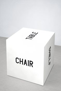 """The Meaning of a Word is its Use in the Language""...Maciej Ratasjski. (Or....furniture minimalism. @Elizabeth Lockhart  Silbermann!) #Word_Cube #Language #Minimalism"