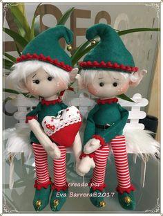 Christmas Elf Doll, Christmas Teddy Bear, Christmas Sewing, Felt Christmas, Handmade Christmas, Christmas Crafts, Elf Christmas Decorations, Xmas Ornaments, Diy Elf Dolls