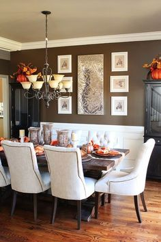 Fall Dining Room Table Decor and Inspiration by Lee Ann Swift