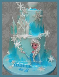 Sugar and Spice Celebration Cakes Auckland – Creating Celebrations in Sugar Disney Frozen Cake, Frozen Theme Cake, Frozen Birthday Cake, Disney Cakes, Frozen Banner, Birthday Cakes, Torte Frozen, Bolo Elsa, Pastel Frozen