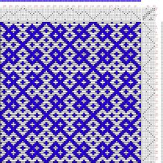 Hand Weaving Draft: Page 150, Figure 28, Donat, Franz Large Book of Textile Patterns, 8S, 8T - Handweaving.net Hand Weaving and Draft Archiv...