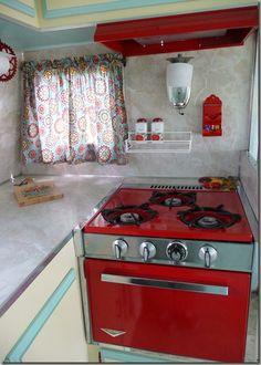 Camper Restoration| Serafini Amelia| Stove-Kitchen-vintage camper
