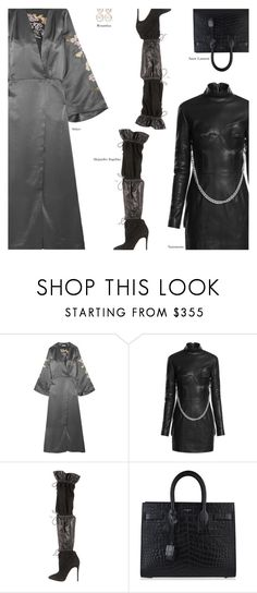 """""""A Lot"""" by amberelb ❤ liked on Polyvore featuring Attico, Alejandro Ingelmo, Yves Saint Laurent and Rosantica"""
