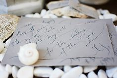 Intimate, one-by-one hand written Save-the-Date card on deckled edged paper Destination Wedding Invitations, Hand Designs, Save The Date Cards, Thank You Cards, Dreaming Of You, Initials, Art Pieces, Reception, Place Card Holders