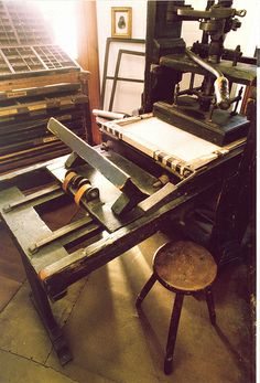 An 18th century printing press
