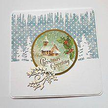 Papiernictvo - Vianočná pohľadnica - 8503919_