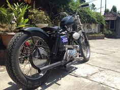 This is #Betsy from #Lawless #Jakarta. #motorcycle #harley #ironhead #bobber #chopper #custom #bikes #indonesia