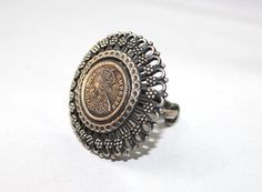 Silver Handmade Coin Rings by radharamajewellers on Etsy