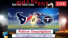 FCS   Tennessee Titans vs Houston Texans Live   Preview, Date Time stati...