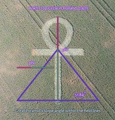 Egyptian Ankh Crop Circle in Holland, 7/4/15…