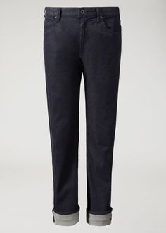 Fine materials and design for this Regular Fit Jeans In Stretch Cotton Denim  by Emporio Armani  Men. Take a look at the official online store now. Ripped Jeans Men, Denim Skinny Jeans, Slim Jeans, Black Jeans, Armani Men, Emporio Armani, Smart Casual Outfit, Casual Outfits, Best Jeans