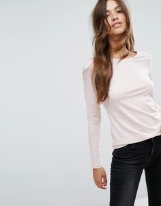 New Look Long Sleeve Tee - Pink