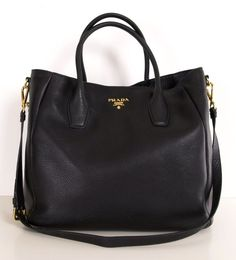 Love this black Prada Tote