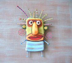Found object art, sculpture, art furniture, paintings par FigJamStudio Mermaid Wall Art, Fish Wall Art, Fish Art, Art Furniture, Stock Art, Wall Sculptures, Sculpture Art, Bottle Cap Art, Found Object Art