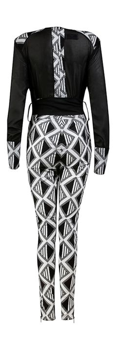 Arabaa- Ladies Chiffon African print jumpsuit - OHEMA OHENE AFRICAN INSPIRED FASHION  - 2