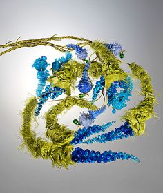 Growing Glass & Silk Pendants